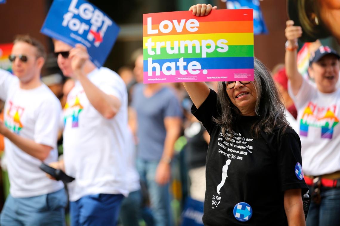 Love Trumps Hate, San Francisco Pride Parade 2016